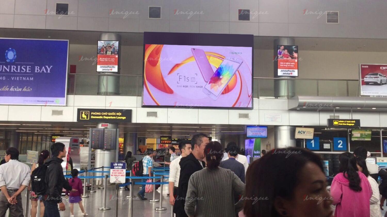 Quảng cáo màn hình Led, Lcd, Frame tại sân bay